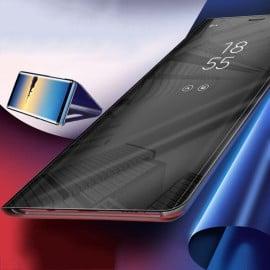 Vaku ® Samsung Galaxy Note 10 Plus Mate Smart Awakening Mirror Folio Metal Electroplated PC Flip Cover