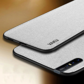 Vaku ® VIVO V15 Luxico Series Hand-Stitched Cotton Textile Ultra Soft-Feel Shock-proof Water-proof Back Cover