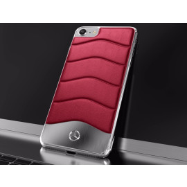 Mercedes Benz ® Apple iPhone SE 2020 Concept S Coupe Series Electroplated Metal + Leather Hard Case Back Cover