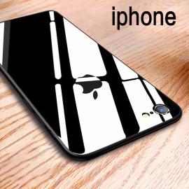 Vaku ® Apple iPhone 6 / 6S YAMADO Luxurious Glass Case Wireless Edition Chrome 4 Frames Plus Ultra-Thin Glass Cover