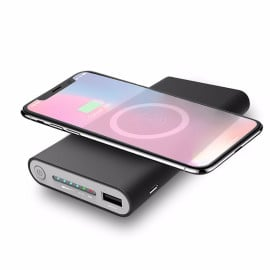 VAKU ® Wire-less FAST Charging PowerBank ABS Body With Digital Display High Power 10,000 mAh Dual-USB Output Power Bank