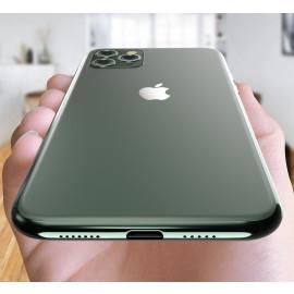 Vaku ® For Apple iPhone 11 Pro Max 1:1 Logo Chrome Line Back Cover