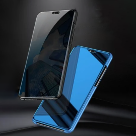 Vaku ® Xiaomi Redmi Note 5 Pro Mate Smart Awakening Mirror Folio Metal Electroplated PC Flip Cover