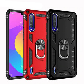 Vaku ® Xiaomi Mi A3 Armor Ring Shock Proof Cover with Inbuilt Kickstand