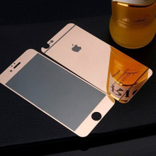 Dr. Vaku ® Apple iPhone 6 / 6S Full Protection 9H Hardness Electroplated Mirror Tempered Glass