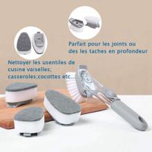 VAKU ® Multipurpose Brush Dish / Kitchen / Sink Cleaning Brush with Liquid Soap Dispenser