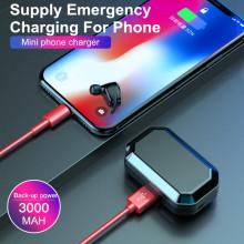 VAKU ® True Touch Hi-TWS L Wireless HD-STEREO Earphones with Bluetooth 5.0 + EDR + 3000 mAh Powerbank