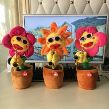 InterActiv™ Electronic Singing & Dancing with Lights Funny Soft Sunflower Plant Toy
