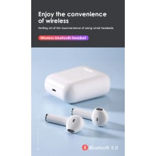 TWS ® F10 Pro Twins Bluetooth enabled Wireless stereo, auto connect ear pods with Bluetooth v5.0+EDR