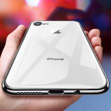 Vaku ® Apple iPhone 6 / 6S Chromaina Wireless Edition Soft Chrome 4 Frames Plus Ultra-Thin Case Glass Cover