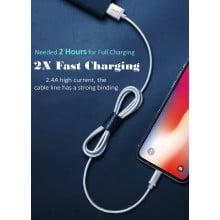 VAKU ® Customized Fast Charging Nylon Braided Lightning Data-Cable