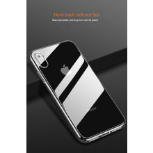 VAKU ® Apple iPhone Xs Max Transparent Creative Series Anti-Drop 4-Corner 360° Protection Back Cover