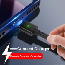 VAKU ® Braze Series with Magnetic Auto-Adhesion 2.4A Quick Charge & 3 in 1 convertible Data Sync Jacks i.e. Apple lightning + Windows Micro USB + Type C Data Cable