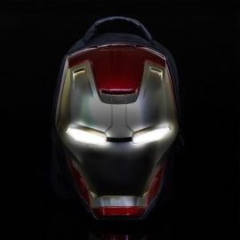 Marvel ® 3D Iron Man LED Light Eyes 15.6in Laptop Bag Case