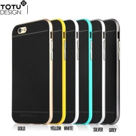 Totu ® Apple iPhone 6 / 6S Evoque Metal + Soft Grip Case Soft / Silicon Case