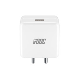 Dr. Vaku ® Super Fast VOOC 20W USB Type A , Fast Charger Compatible With Oneplus / Samsung / Xiaomi / Oppo /  Realme etc Smartphone - White