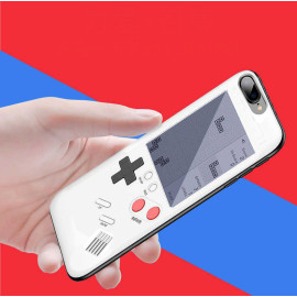 Vaku ® Apple iPhone 7 Retro Video Gaming Console 26 in 1 Games Like Tetris, Shooting, Racing, Tank, Memory etc. + Drop-Protection Back Cover