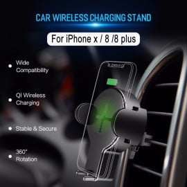 Rock ® W2 Quick wireless Fireproof ABS + PC Car charger and phone holder