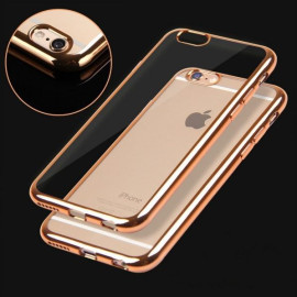 Totu ® Apple iPhone 6 / 6S Ultra Clear Invisible View Metal Electroplated Transparent TPU Back Cover