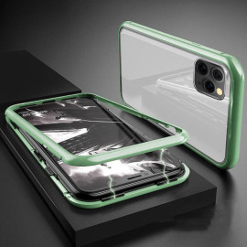Vaku ® For Apple iPhone 11 Pro Max  Electronic Auto-Fit Magnetic Wireless Edition Aluminium Ultra-Thin CLUB Series Back Cover