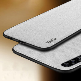 Vaku ® Samsung Galaxy A30S Luxico Series Hand-Stitched Cotton Textile Ultra Soft-Feel Shock-proof Water-proof Back Cover