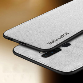 Vaku ® Oppo A5 2020 Luxico Series Hand-Stitched Cotton Textile Ultra Soft-Feel Shock-proof Water-proof Back Cover