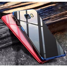 Vaku ® Samsung Galaxy C9 Pro CAUSEWAY Series Electroplated Shine Bumper Finish Full-View Display + Ultra-thin Transparent Back Cover