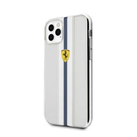 Ferrari ® For Apple iPhone 11 Pro Max Pista Blue Stripe Clear series Back Cover