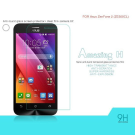 Dr. Vaku ® Asus Zenfone 2 / ZE500CL Ultra-thin 0.2mm 2.5D Curved Edge Tempered Glass Screen Protector Transparent