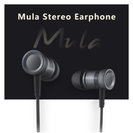 Rock ® Mula 3.5 mm Stereo Earphone + Mic + Control with Gold Plated Jack Earphone