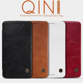 Nillkin ® Motorola X Play Nitq Folio Leather Protective Case with Credit Card Slot Flip Cover