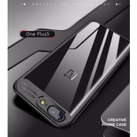 Vaku ® OnePlus 5 Kowloon Series Top Quality Soft Silicone 4 Frames + Ultra-Thin Transparent Back Cover