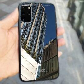 Vaku ® Samsung Galaxy S20 Plus Club Series Ultra-Shine Luxurious Tempered Finish Silicone Frame Thin Back Cover