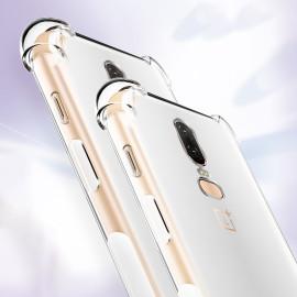 Vaku ® OnePlus 6 PureView Series Anti-Drop 4-Corner 360° Protection Full Transparent TPU Back Cover Transparent