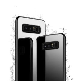 Vaku ® Samsung Galaxy Note 8 Club Series Ultra-Shine Luxurious Tempered Finish Silicone Frame Thin Back Cover