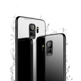 Vaku ® Samsung Galaxy S9 Club Series Ultra-Shine Luxurious Tempered Finish Silicone Frame Thin Back Cover
