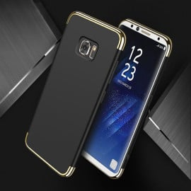 VAKU ® Samsung S7 Edge Clint Series Ultra-thin Metal Electroplating Splicing PC Back Cover