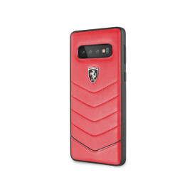 Ferrari ® Samsung Galaxy S10  Scuderia Luxurious Leather  Stitched Limited Edition Back Cover
