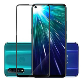 Dr. Vaku ® Vivo Z1 Pro 5D Curved Edge Ultra-Strong Ultra-Clear Full Screen Tempered Glass-Black