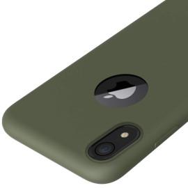 VAKU ® Apple iPhone XR Liquid Silicon Velvet-Touch Silk Finish Shock-Proof Back Cover