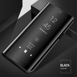 Vaku ® Oppo Realme X2 Mate Smart Awakening Mirror Folio Metal Electroplated PC Flip Cover