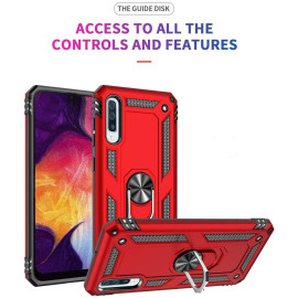 Vaku ® Samsung Galaxy A50S Armor Ring Shock Proof Cover with Inbuilt Kickstand