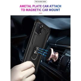 Vaku ® Samsung Galaxy Note 10 Lite Armor Ring Shock Proof Cover with Inbuilt Kickstand