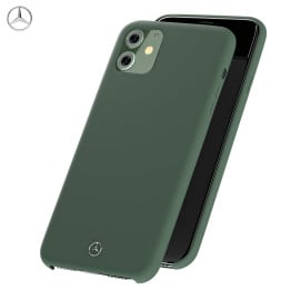Mercedes Benz ® Apple iPhone 11 Liquid Silicon Velvet-Touch Silk Finish Shock-Proof Back Cover