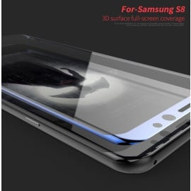 Dr. Vaku ® Samsung Galaxy S8 Ultra-thin 0.2 mm 2.5D + 3D Curved Edge Tempered Glass Screen Protector