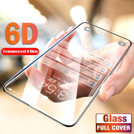 Dr. Vaku ® Samsung Galaxy M40 6D Curved Edge Ultra-Strong Ultra-Clear Full Screen Tempered Glass-Black