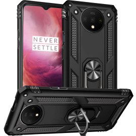 Vaku ® OnePlus 7T Armor Ring Shock Proof Cover with Inbuilt Kickstand