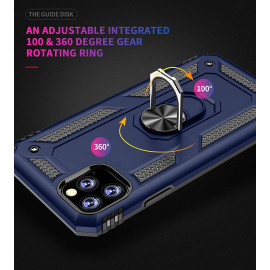 Vaku ® Apple iPhone 11 Pro Max Armor Ring Shock Proof Cover with Inbuilt Kickstand