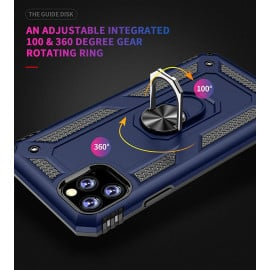 Vaku ® For Apple iPhone 11 Pro Max Armor Ring Shock Proof Cover with Inbuilt Kickstand