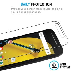Dr. Vaku ® Motorola Moto E (2nd gen) Ultra-thin 0.2mm 2.5D Curved Edge Tempered Glass Screen Protector Transparent